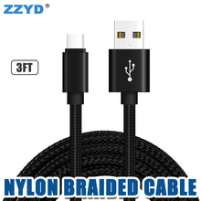 ZZYD 2018 New Products 1M 3ft Nylon Braided Micro Usb Cable Data Cable Mobile Phone Charger For Samsung Android