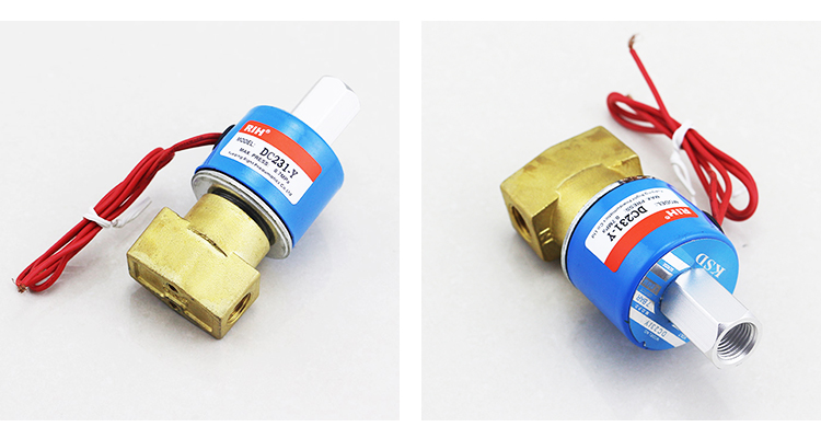 DC231-Y Normally Open Control Low Voltage Electric 12 volt Water Air Solenoid Valve Submersible Waterproof