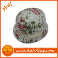 Cheap wholesale custom flower pretty camo army bucket hat
