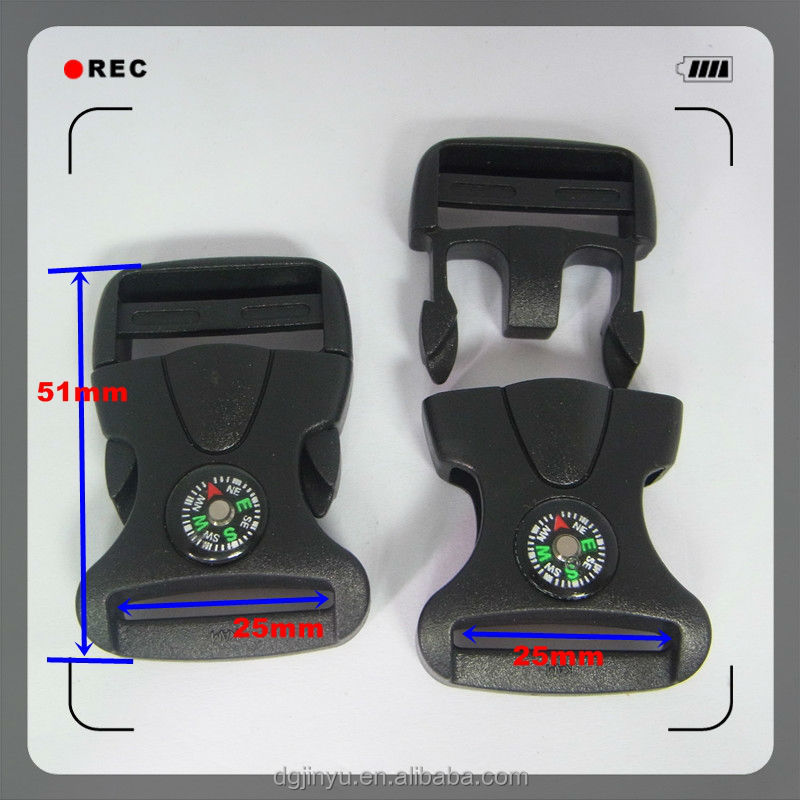 plastic webbing strap plastic buckle/press buckle/compass side release buckle for bag