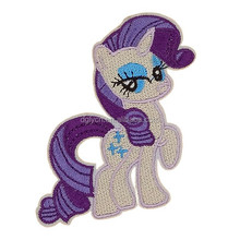 Custom iron on felt cartoon character embroidered applique pony patch