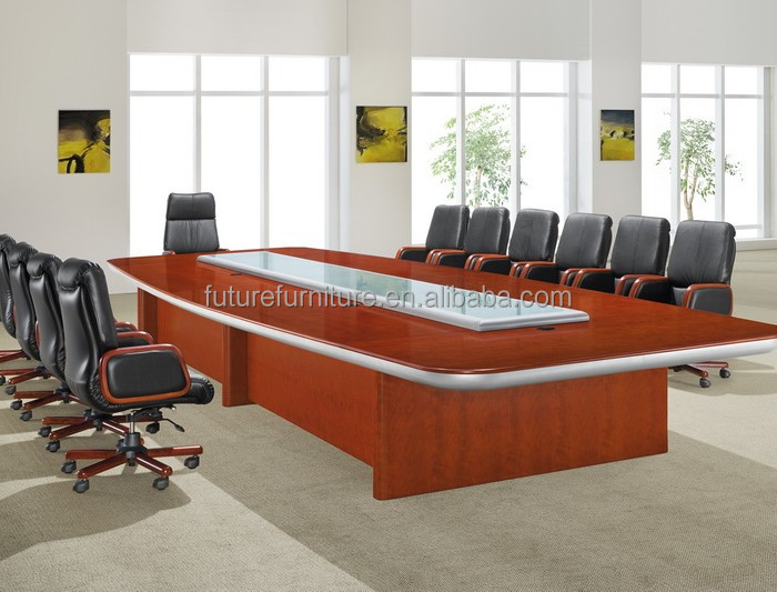 2014 Glass top conference table for boardroom (HM58)