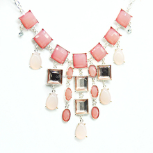 New Styles Statement Fashion Elegant Resin ruby pendant plant necklace