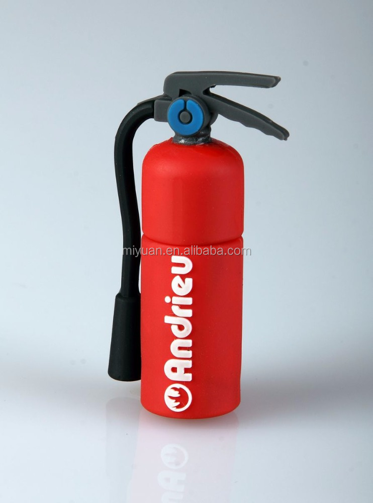 extinguisher special design usb thumb drive with silicone cover cap