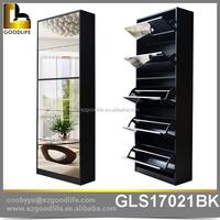 High Quality Modern shoe cabinet with mirror, cube shoe rack
