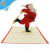 Cheap price wholesale funny paper gift christmas pop up card 3D pop up greeting christmas invitation card