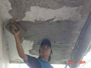 thin layer cement mortar skim coating rendering plastering