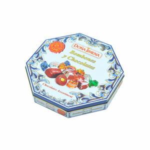 Gift packaging printing hexagonal tin box for cookie storage
