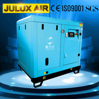 Hot selling made in china 7.5kw10hp super silent type industry rotary twin hand held screw air compressor