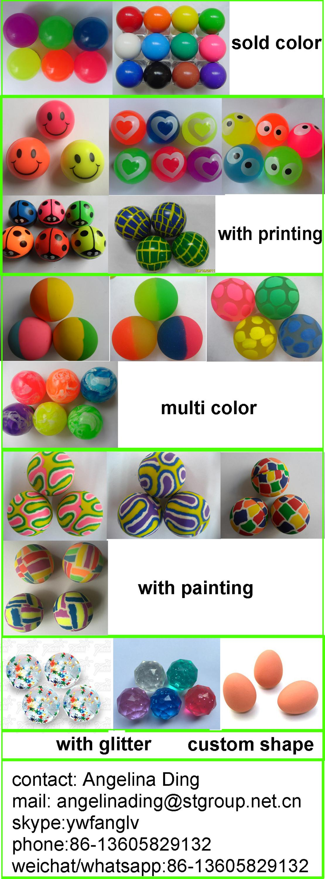 Funny Colorful Rubber Bouncing ball