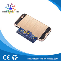 guangzhou factory products TPU card slot mobile phone case packaging for iphone 6 plus