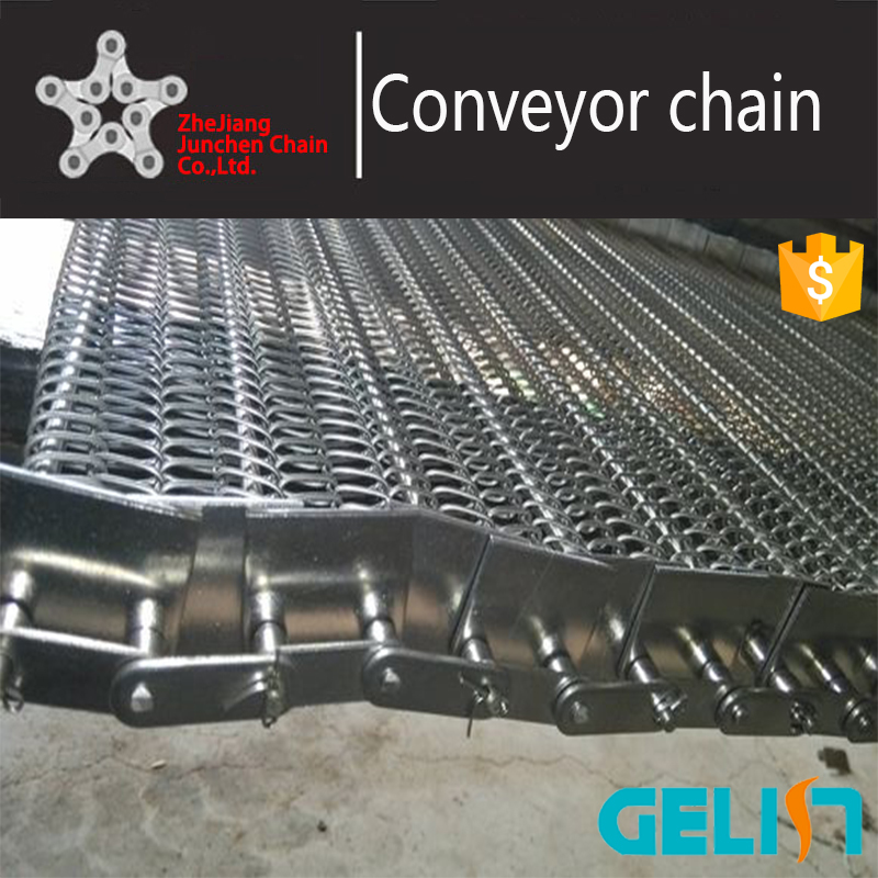 Chain Type 304 Stainless Steel Conveyor Belt Link Wire Mesh roller chain drive mesh