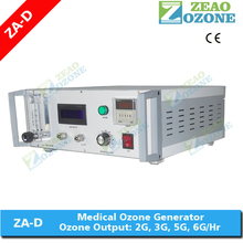 Medical treatment desktop 6g/hr ozone generator for blood therapy
