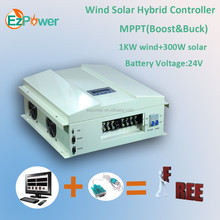 1KW 24V MPPT wind solar hybird <strong>charge</strong> <strong>controller</strong>(Boost&Buck)