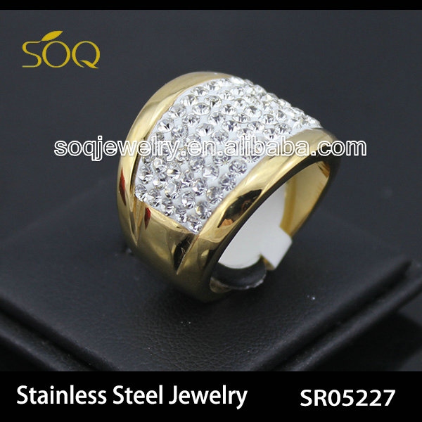 Fashionable stainless steel rings jewelry