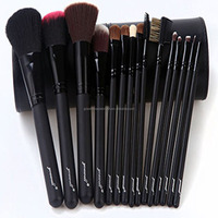 China supplier black/pink professional makeup brush for eyebrow brush with makeup brush kits