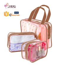 Waterproof transparent pvc clear custom travel toiletry bag