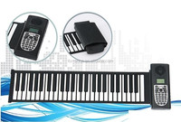 Musical instrument 49/61/88 keys roll up piano/foldable piano keyboard/flexible keyboard piano