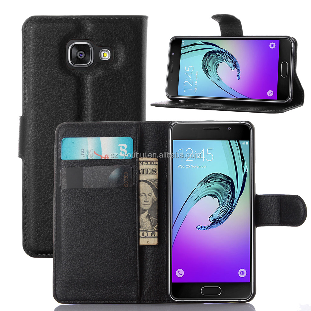 Wholesale Folio Stand Case for Samsung GALAXY A3 A310 PU Leather Flip Cover with Wallet
