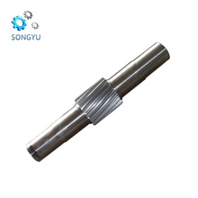 Large standard long stainless steel propeller cast iron transmission shaft