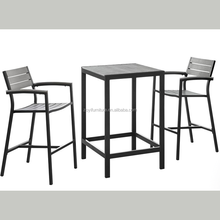 Garden polywood chairs and table outdoor dining set