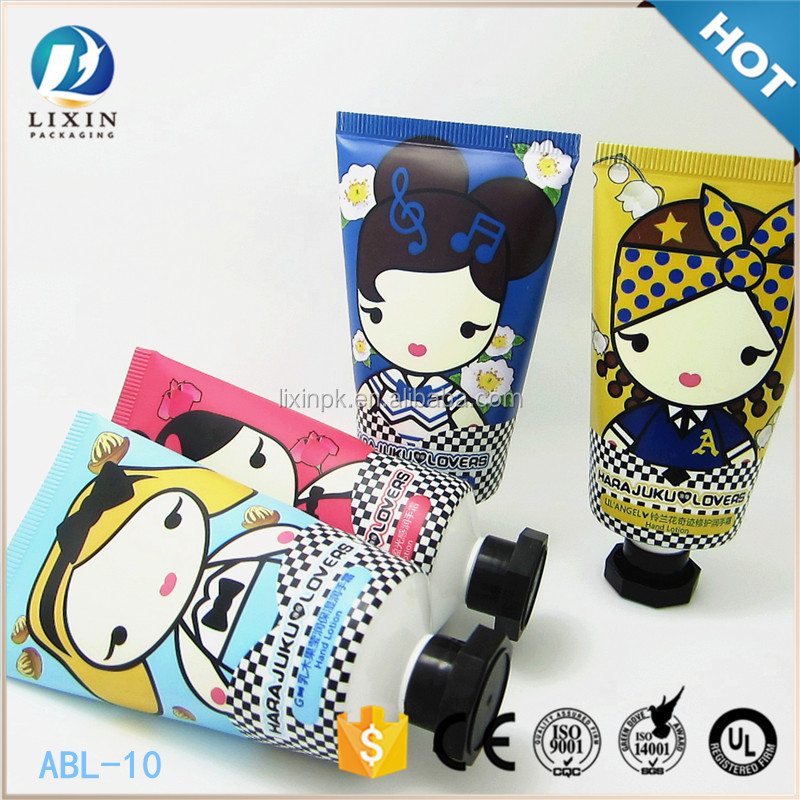 Young girl hand cream aluminum flexible tube packaging cosmetic tube