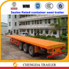 40ft flat deck container trailer flatbed trucks container transport semi trailer for sale