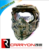 Head protection and industrial safety helmet for paintball