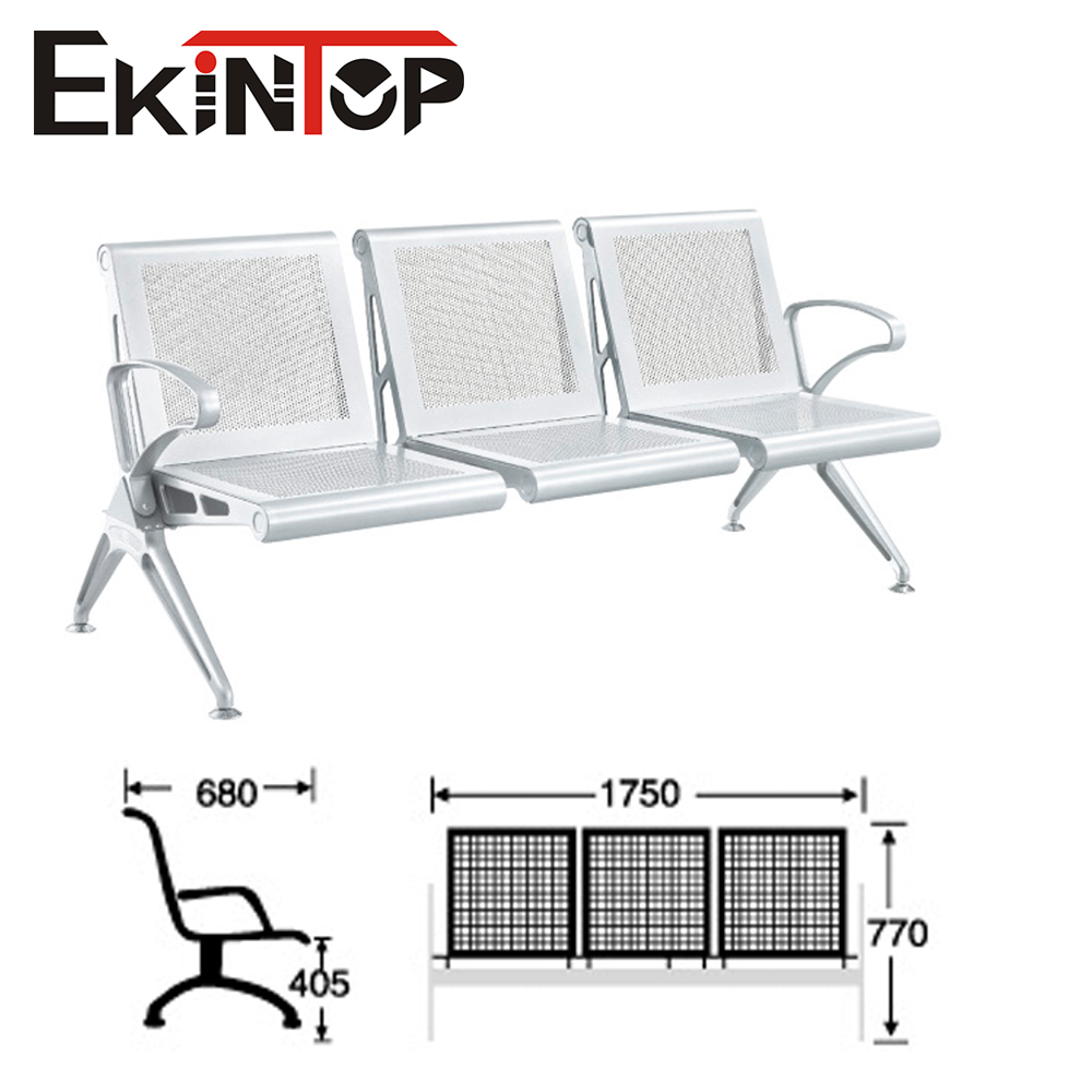 Dubai project used aluminum stand size airport public 3 seater waiting chair