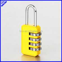 Nice color cute 4 digit combination mini padlock