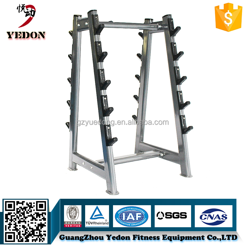 Good Painting Commercial Gym Equipment Barbell Rack Four Set Barbells