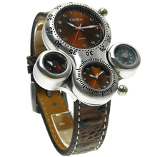 discount sale new product pu leather band oulm casual watch