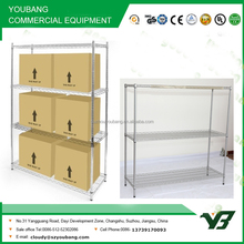 Best sell NSF 150KGS 72x24 inch heavy duty 4 layer chrome wire shelving (YB-WS057)