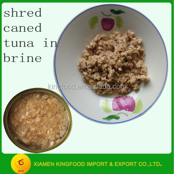 Tuna shred canned tuna in brine manufacturer wholesale tuna fish