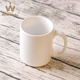 wholesale White Ceramic Stoneware Mugs Cup with handle coffee cups tea cups