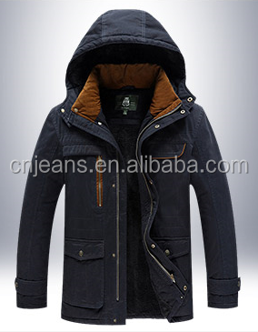 GZY Guangzhou stock lots warm fur men jacket coat