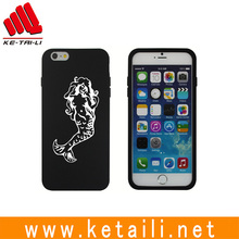 Wholesale hot selling black color durable custom silicone phone case for iphone 8 cover