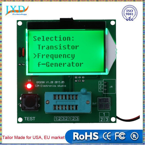GM328 Functional Transistor Tester Frequency Square Wave Generator LCD Diode Triode Capacitance ESR Meter for MOS/PNP/NPN L/C/R