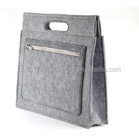 New Fashion polyester felt shopping hand bag laptop sleeve cover customized color office storage case