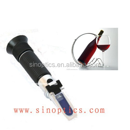 Auto refractometer alcohol 0-25%vol grape wine refractometer