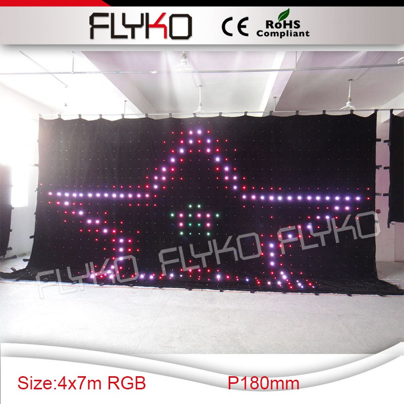 Sex movies led stage backdrop flexible led video curtain P180mm