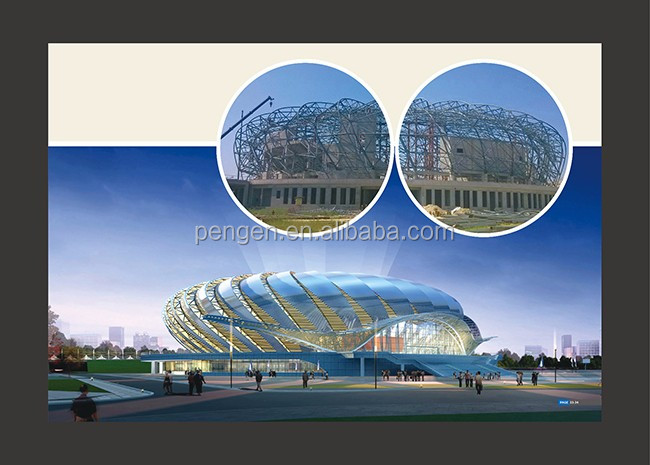 stadium prefabricated steel structure building with ISO9001 Certification