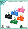 wholesale Bone Shaped Pet Waste Disposal Dog Poop Bags Dispenser, various color and size