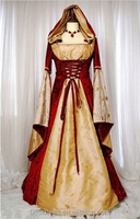 Red Hooded Gown Game Thrones Renaissance Medieval Queen Costume