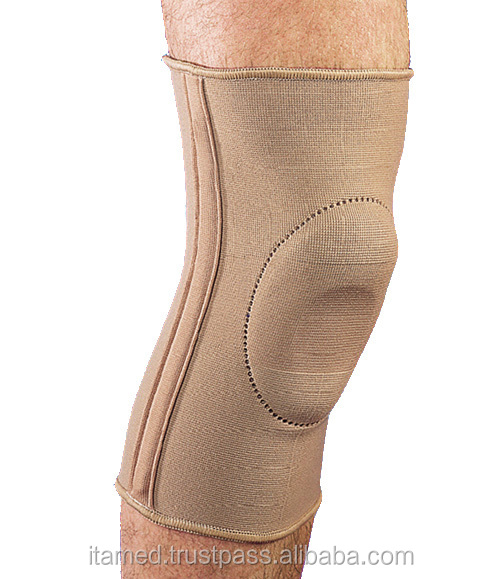 Elastic Knee Brace with Donut-Shaped Silicone Ring and Metal Stays