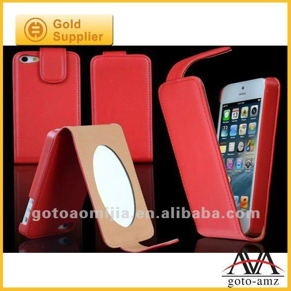 mirror function leather case for iphone5