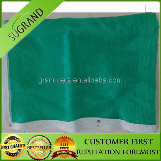green construction safety net/rubber sheet with mesh fabric