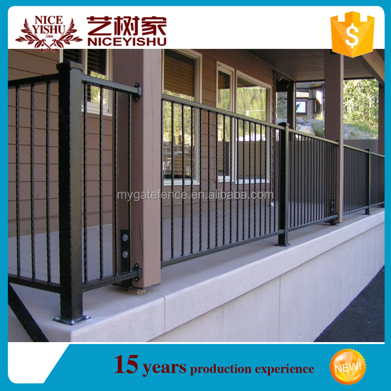 Yishujia factory Used for Home Garden Wrought Iron Railing, prefab fence panels steel