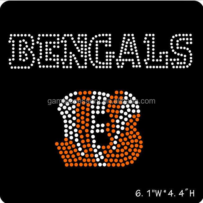 Bengals Rhinestone Iron On Transfer design