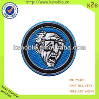 custom cute old man 3d embroidered souvenir patch